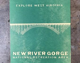 New River Gorge Letterpress Print