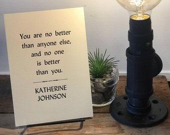 Katherine Johnson Letterpress Print