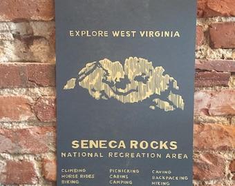 Seneca Rocks Letterpress Print