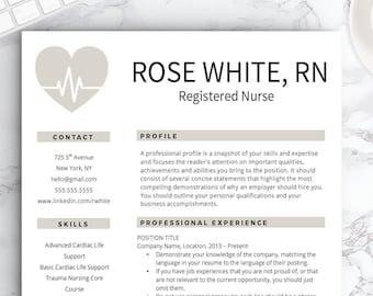 Nursing resume | Etsy