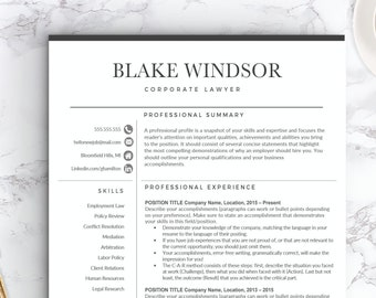 Modern Resume Template And Cover Letter Cv Template Etsy
