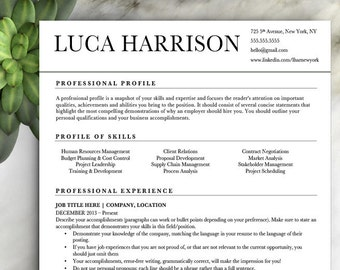 professional resume template cv template with cover letter word modern resume instant digital download nursing resume resume cv - Free Professional Resume Templates Download