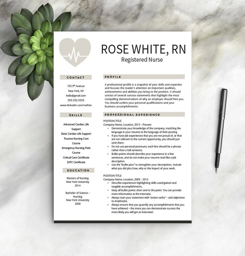 Nurse Resume Template Free Cover Letter