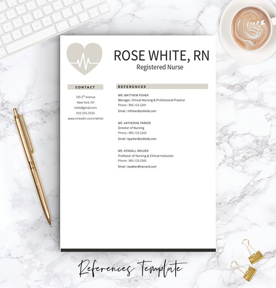 Nurse Resume Template + Free Cover Letter | Nurse Resume | Nurse CV | One &  Two Page Resume Templates | Nursing Resume | INSTANT DOWNLOAD