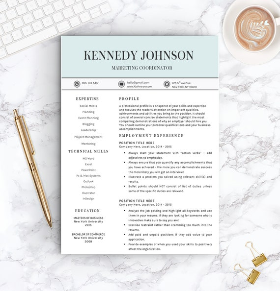 Resume Template for Word | 1 & 2 PageProfessional Resume Template, Cover  Letter | Instant Download |Nursing Resume Template |Professional CV