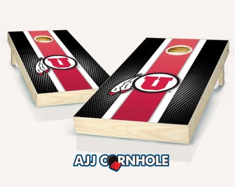 Free shipping Made in USA Utah Utes,corn hole set of 2 decals