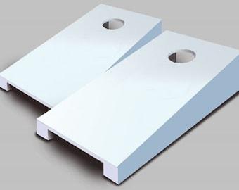 White Tabletop Cornhole Set with Bags - Desktop Cornhole - Mini Toss - Corn Toss - Mini Cornhole