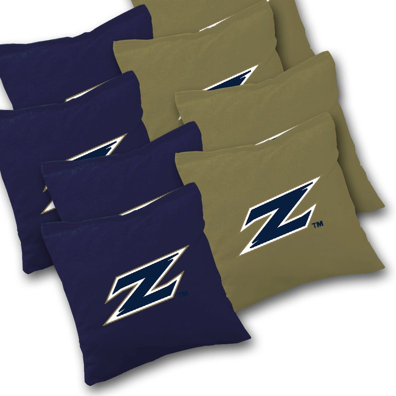 Officially Licensed Akron Zips Distressed Cornhole Set with Bags Corn Toss Akron Cornhole Corn hole Bean Bag Toss
