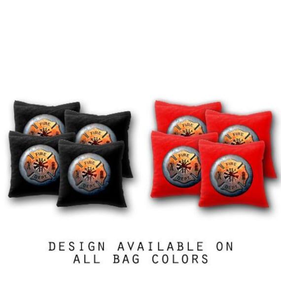 Fire Dept Cornhole Bags Fire fighter corn hole bags regulation made