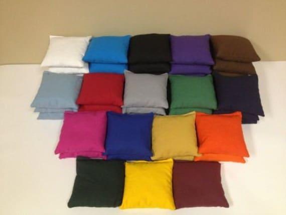 Cornhole sacs lot de 8-17 couleurs à choisir de - maison qualité règlement Cornhole sacs - Bean Bag Toss - trou hayon-Cornhole maïs