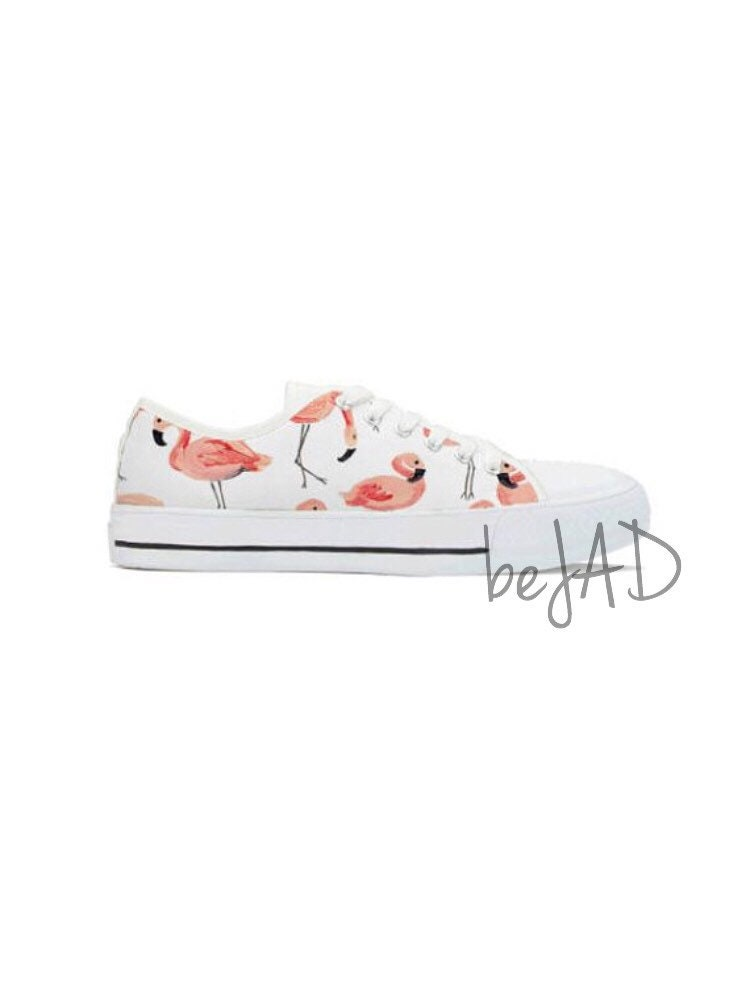 Women flamingo converse shoes - Matching shoes converse flamingo style - Pink flamingo - Flamingo shoes ce50a5