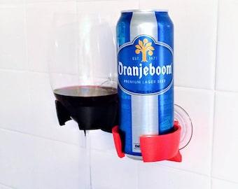 Shower Beer Beverage Wine Holder for Bathroom Bathtub Bath