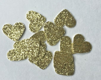 150PCS Glitter Heart Confetti - Table Scatter - Wedding Confetti - Baby Shower Confetti - Bridal Shower Confetti