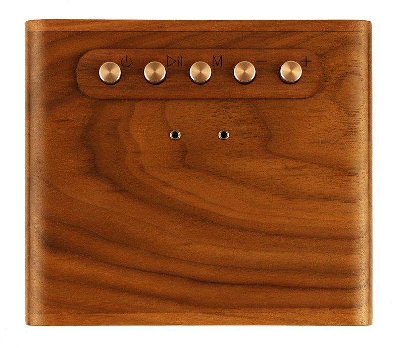 wood bluetooth speaker Vintage inspired Compact /& Portable. the CUDO