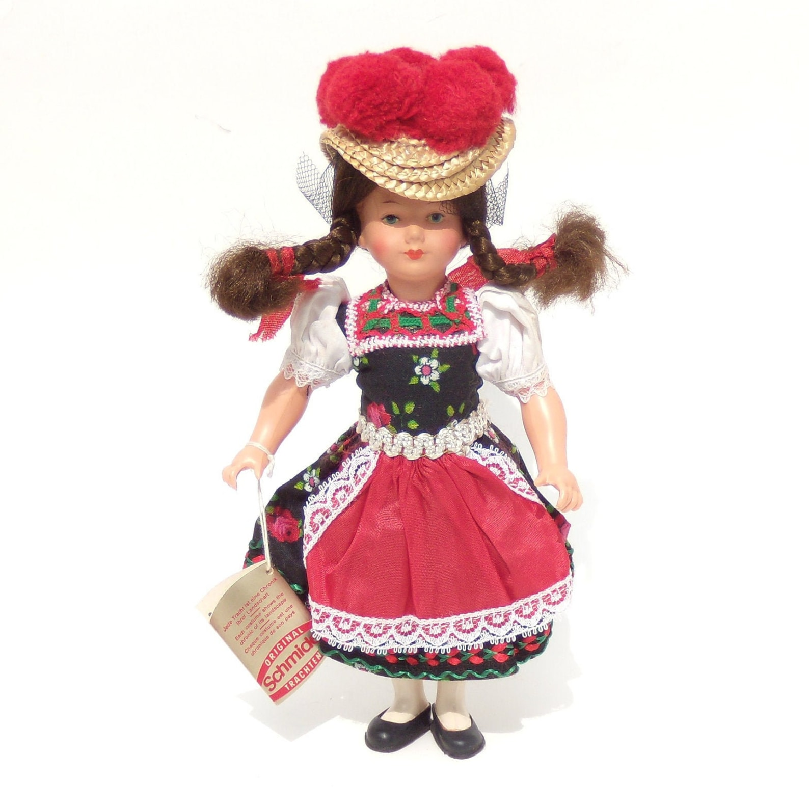 Schmider German Folk Doll, Gutach Schwarzwald Doll