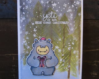 Yeti Christmas Greeting Card