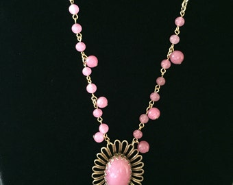 Antique pink lanyard