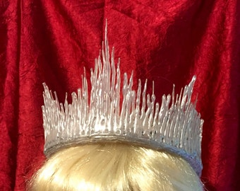 Ice Queen / Snow Princess Crown, frozen, icicles, white, shimmer, sparkles crown
