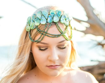 Enchantress headpiece- Mermaid Crown, unique crown, handmade crown