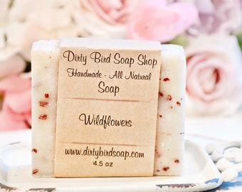 Wildflowers Bar Soap - Handmade - Artisan - Handcrafted - Cold Processed - Vegan - Bath - Beauty - Spa - Skin Care - Man - Men - Gift