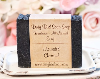 Activated Charcoal Bar Soap - All Natural - Handmade - Artisan - Handcrafted - Cold Processed - Vegan - Bath - Beauty - Spa - Skin Care