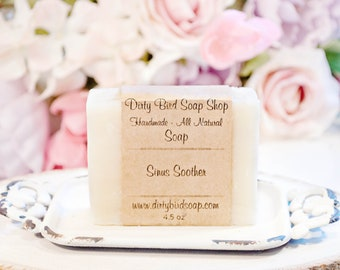 Sinus Soother Bar Soap - Handmade - All Natural - Artisan - Handcrafted - Cold Processed - Vegan - Bath - Beauty - Skin Care - Essential Oil
