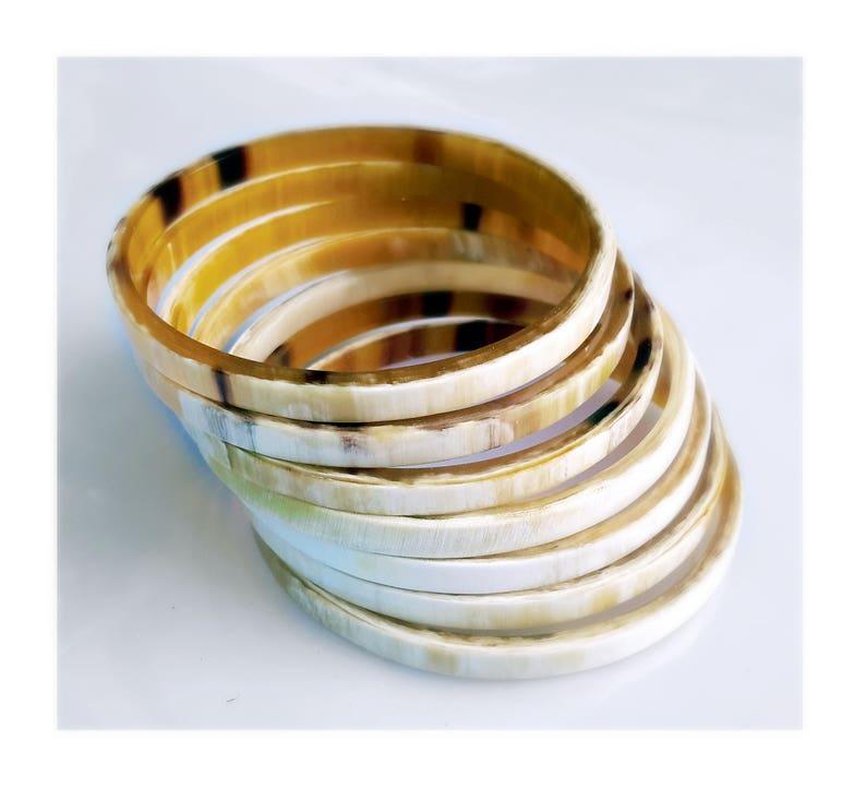 Horn bracelet  Buffalo horn bracelet  Horn bangle bracelet image 0