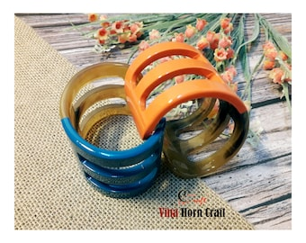 Horn bracelets lacquer- horn jewelry- Horn bracelets -natural horn jewelry-