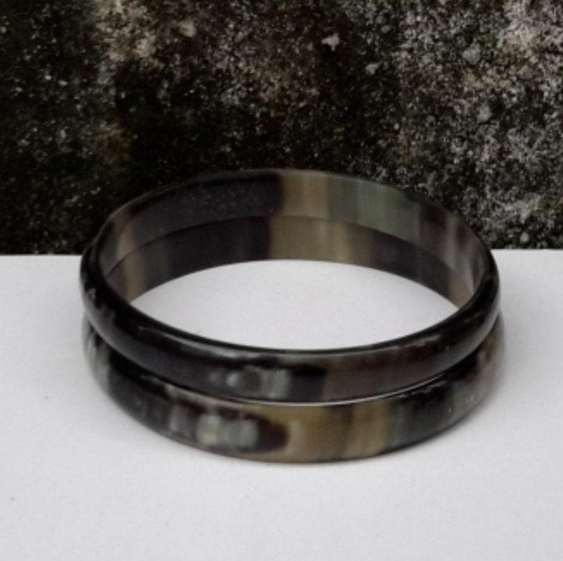 Horn bracelet  Buffalo horn bracelet  Horn bangle bracelet image 1