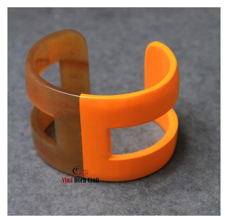 Horn bracelets lacquer horn jewelry Horn bracelets natural image 1