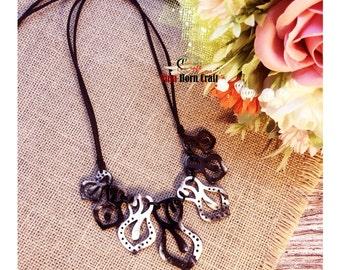 Horn jewelry - chain necklace handmade in Vietnam