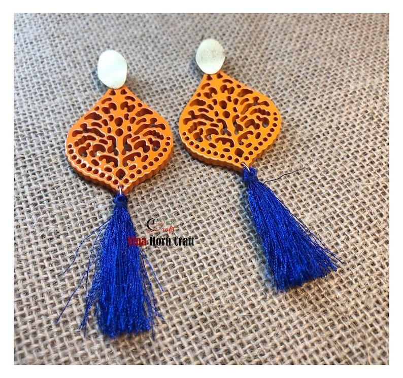 Horn earrings horn lacque earrings