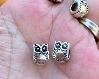 10 New Animal Lion Head Charms Tibetan Silver Tone Spacer Beads 9x10mm
