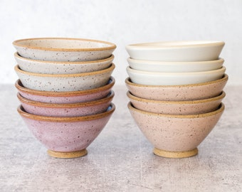 Little Angled Bowl | Prep Bowl | Ceramic Catchall | Modern Pottery | Speckled Clay | Stacking Bowls | Bowl for Keys | Small Kitchen Bowls