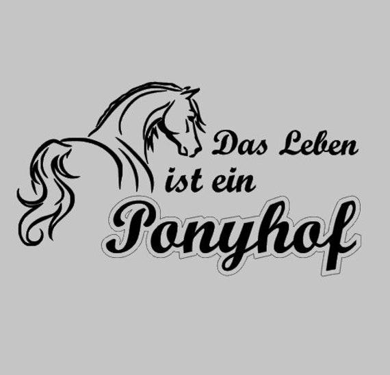 Sticker Life Is A Pony Farm No 2 Etsy