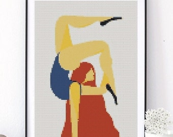 Cross Stitch Pattern - women - PDF Download - Cross Stitch Pattern modern - PDF pattern - counted Cross Stitch Pattern - PDF Download