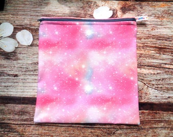 Cycling Pouch Bag case box Lunch Food safe Wateproof Lined Large Pink Grey Space Galaxy CSP First Aid Bikini Snack Sandwich Beauty