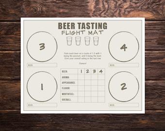 Beer Tasting Flight Mat