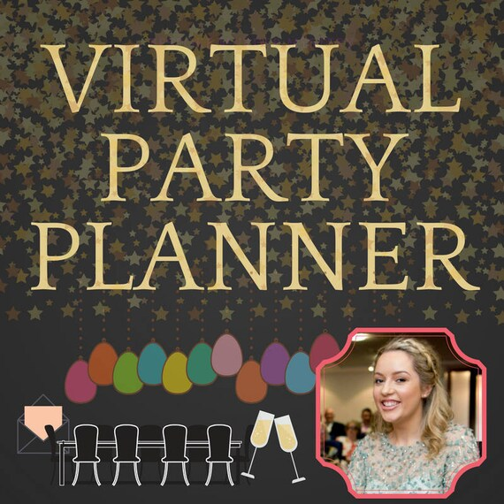 virtual party planner personal party planner game writer etsy