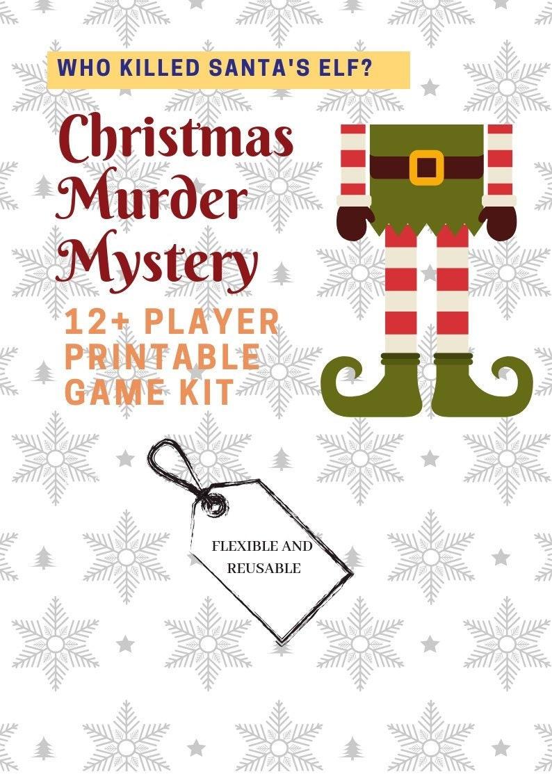 picture relating to Printable Mystery Games known as Who Killed Santas Elf? // Xmas Murder Magic formula //Printable Getaway Video games // Xmas inside July / //Xmas social gathering