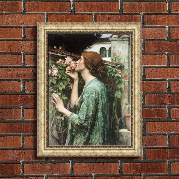 """Gustav Klimt Hope 2 Framed Canvas Giclee Print 27/""""x27/"""" V01-10"""
