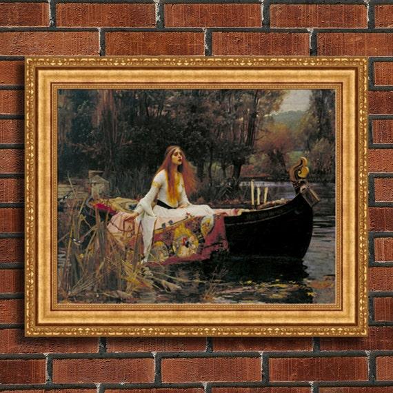 John William Waterhouse The Lady Of Shalott Framed Etsy