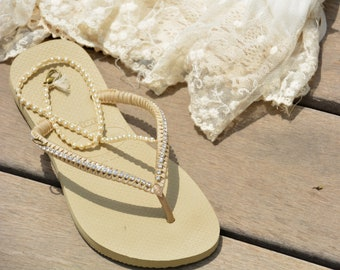 e8bc3651b3b715 Silber   Gold Hochzeit dekoriert Flip Flop anhand bequem