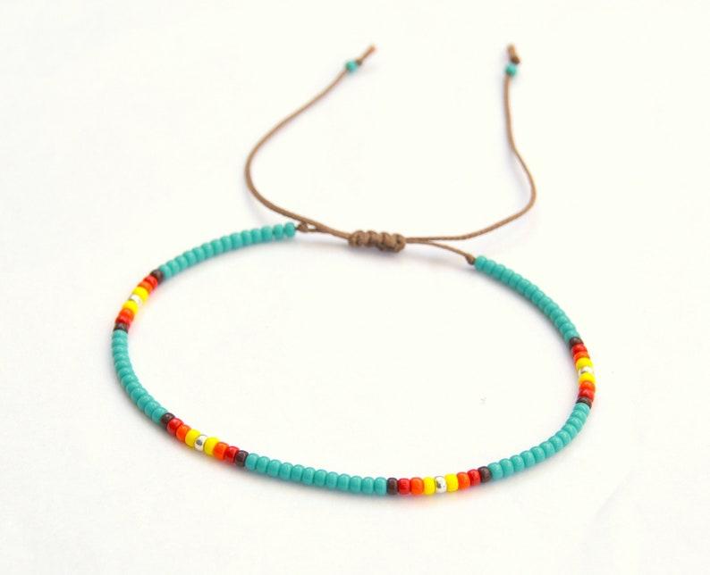 Turquoise Anklet Turquoise Ankle Bracelet Native American Anklet Bohemian Anklet for Women Beach Anklet Boho Anklet Beaded Anklet