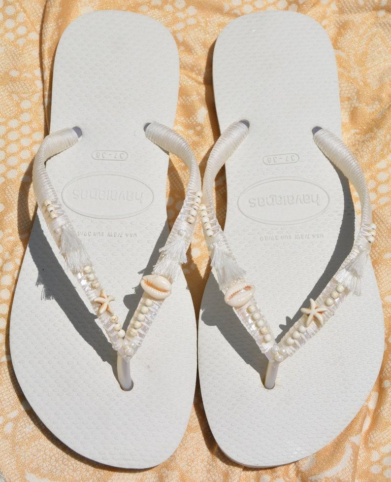 6fdcb6bcb0d6 Bridal Flip Flops Bridesmaid Flip Flops Wedding Flip Flops
