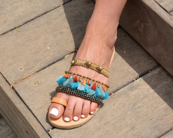sandales Boh sandales femme sandales Sandales Boho Hippie wqRxzXxBU