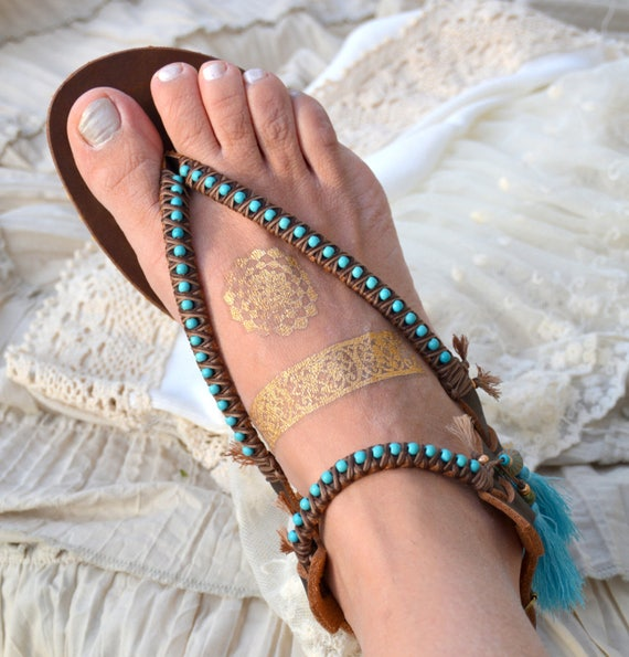 Greek Sandals Turquoise Sandals Leather Boho Sandals Sandals Women Sandals Sandals Shoes Gladiator Beaded Shoes Women Sandals 7Cqn6xqd