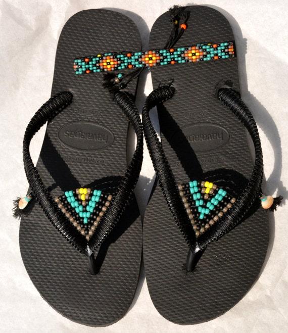 eb0dfba21fc3db Women s Sandals Anklet Bracelet   Flip Flops Black