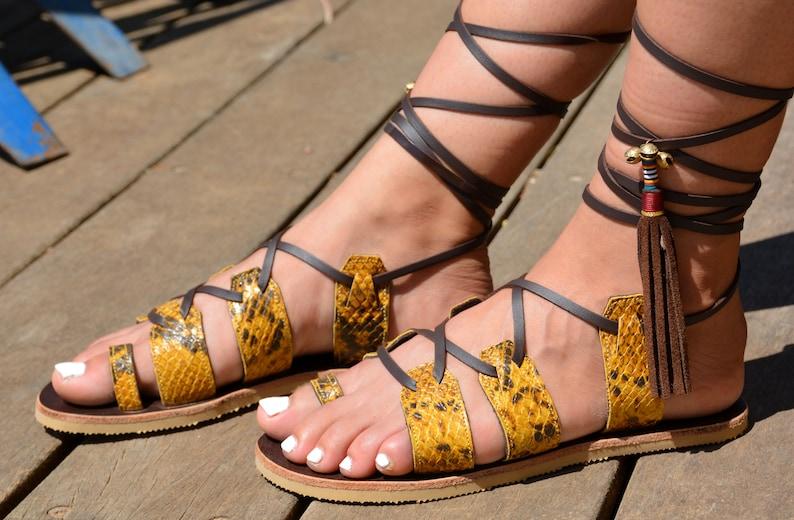 e06d28a7c28 Leather Sandals Women Sandals Gladiator Sandals Boho