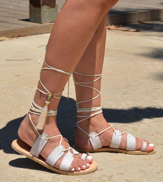 Wedding Women Sandals Wedding White Hippie Leather Shoes Shoes Greek Sandals Sandals Sandals Sandals Sandals Flat Sandals Gladiator 44SXq